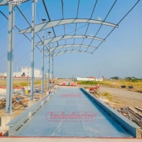 Pemasangan Timbangan Jembatan untuk kilang padi terbesar di Indonesia