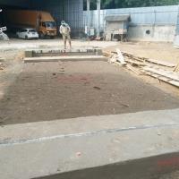 Pengerjaan Fondasi Timbangan Jembatan