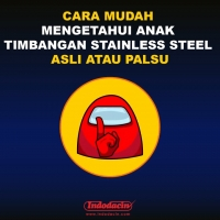 Anak Timbangan Stainless Steel (feat Among Us)